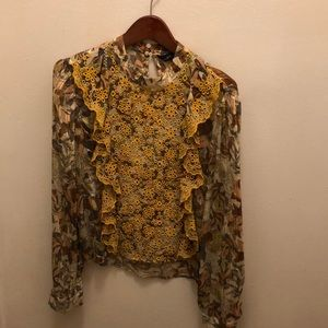 ZARA embroidered woman's blouse